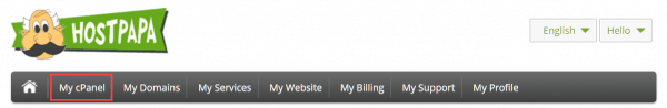 My cPanel link