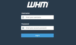 log-in-to-whm