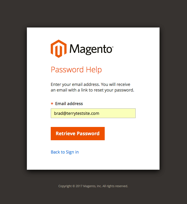 How to reset your Magento 2 1 account password - HostPapa Knowledge Base