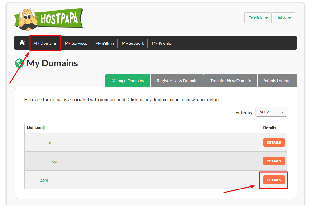 Unlocking your domain to request a transfer