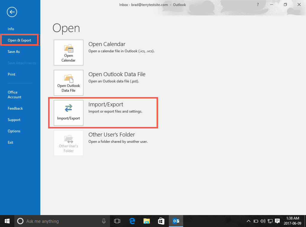 How to change an account from POP to IMAP in Outlook 2016