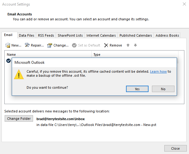 microsoft outlook import mail account settings