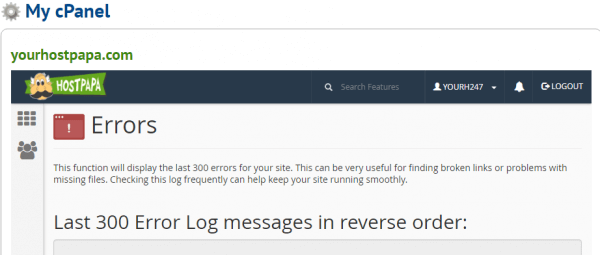 View Error Logs in cPanel