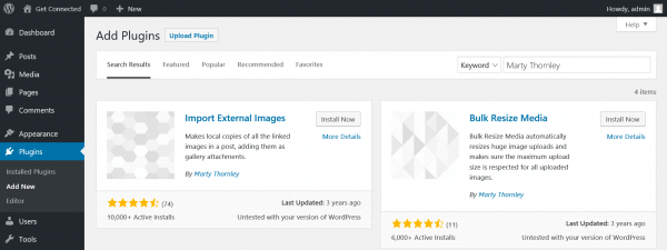 Import External Images plugin