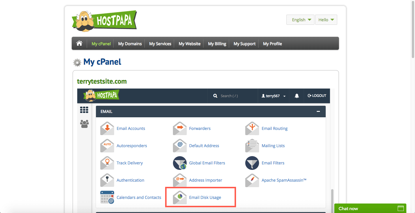 Email disk usage in cPanel - HostPapa Knowledge Base