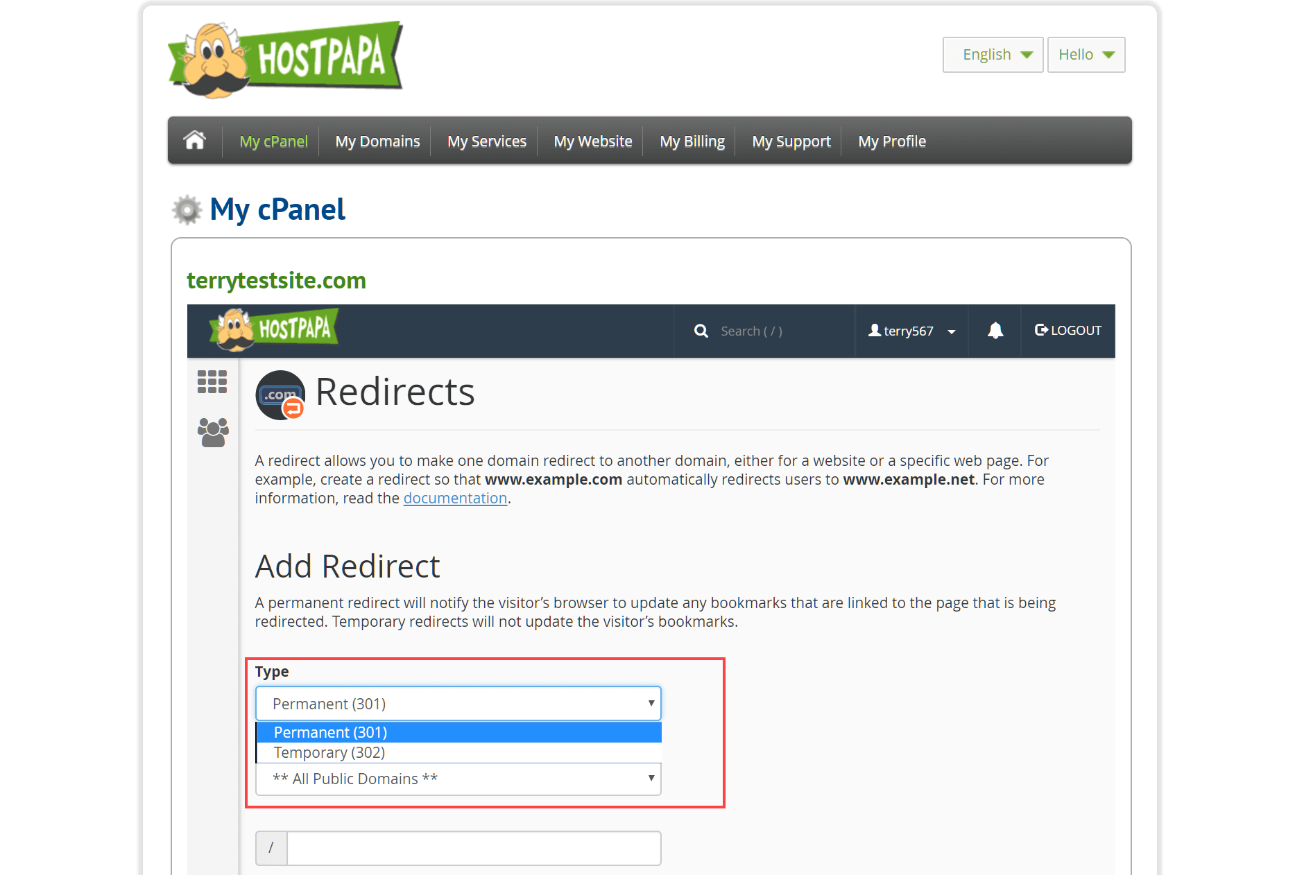 How to redirect URLs with your hosting account - HostPapa Knowledge Base