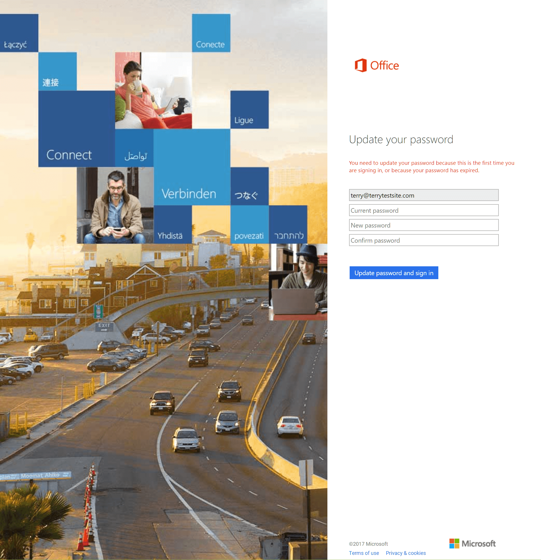 the office 365 portal will now open