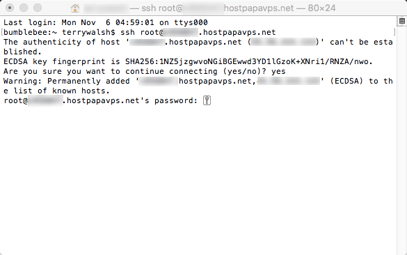 How to use SSH in the Terminal app on Mac OS X - HostPapa