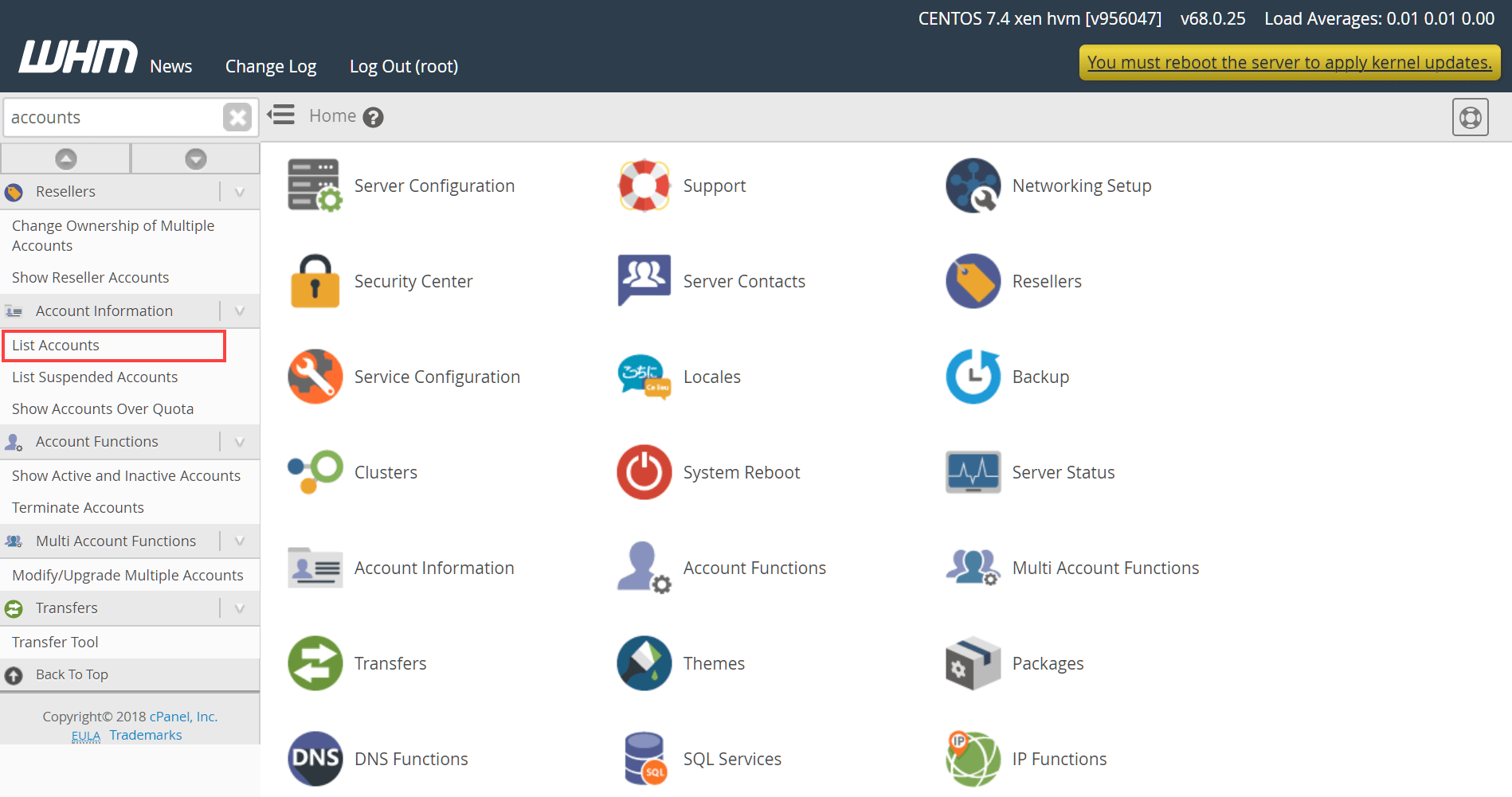 how to delete website in cpanel