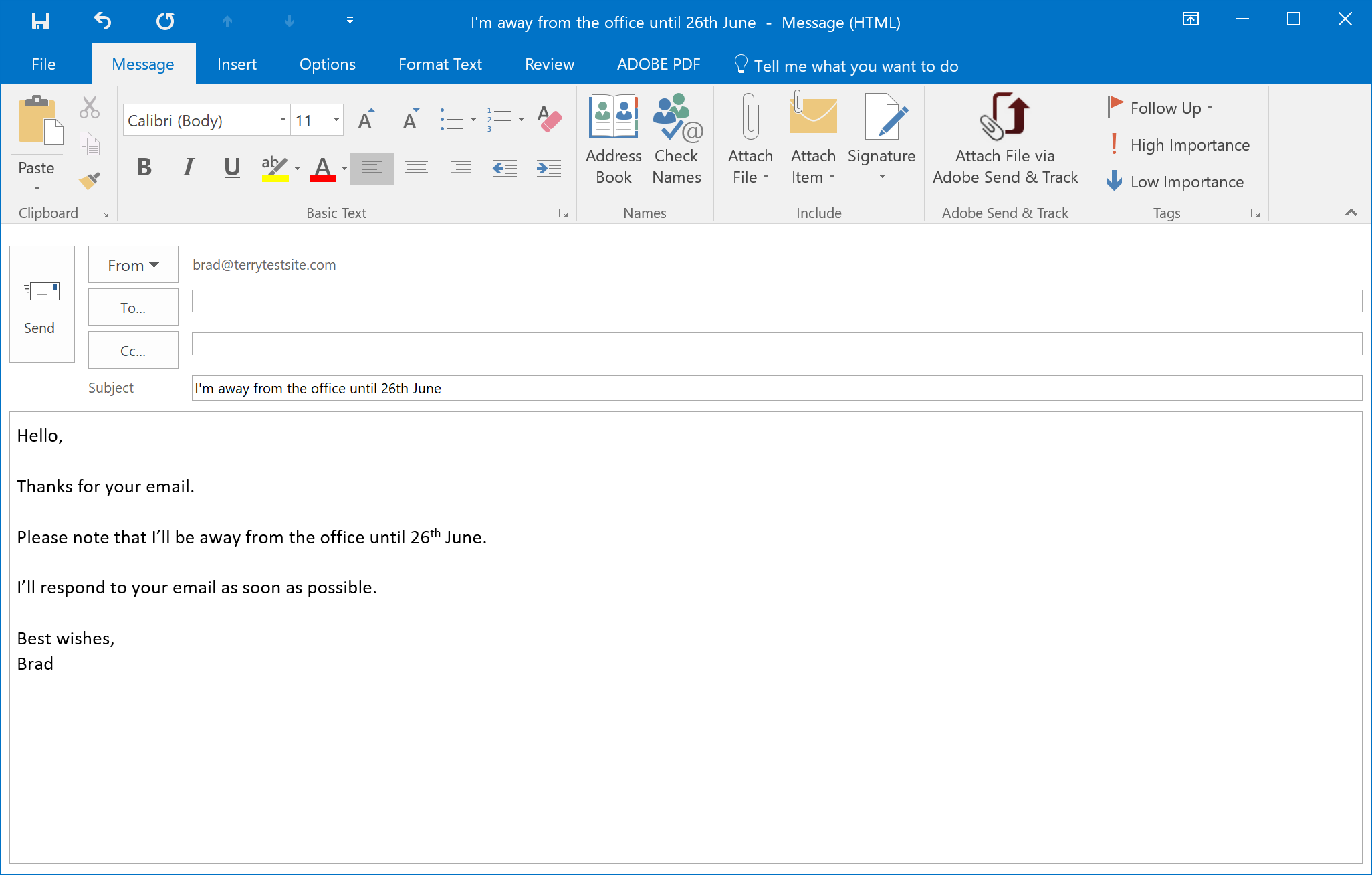 How to send an automatic email reply in Outlook - HostPapa ...