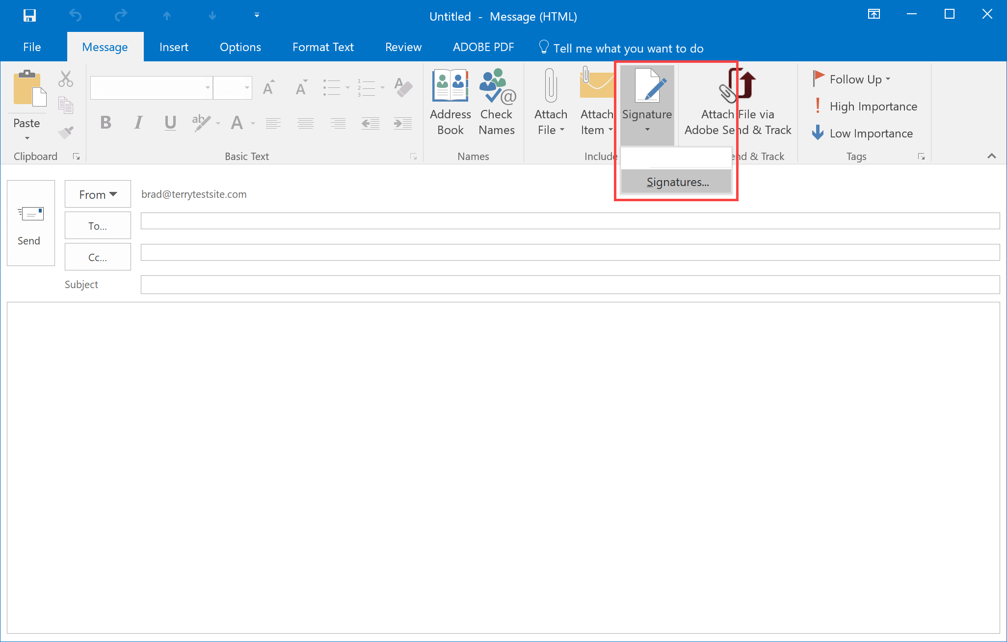 How To Add A Signature In Outlook 2016 Hostpapa Knowledge Base