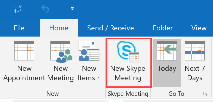 How to schedule a Skype for Business meeting with Outlook