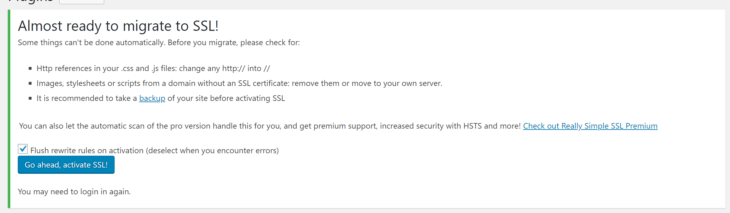 How To Use The Really Simple Ssl Plugin To Fix Mixed Content