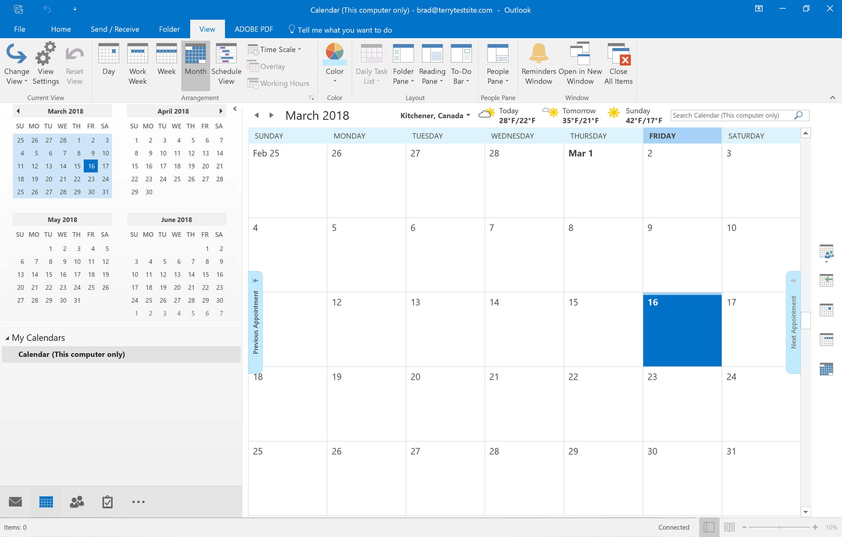 How to view and customise calendars in Outlook 2016 - HostPapa Knowledge  Base