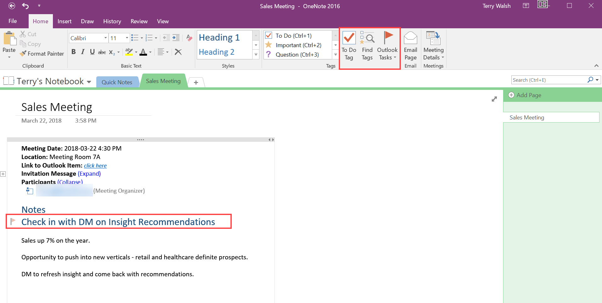 How to take Outlook meeting notes using OneNote - HostPapa Knowledge