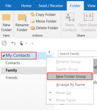 How to manage contact lists in Outlook 2016 - HostPapa Knowledge Base