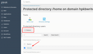 How to add a password to protect a website in Plesk 3