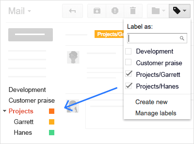 how to add label gmail