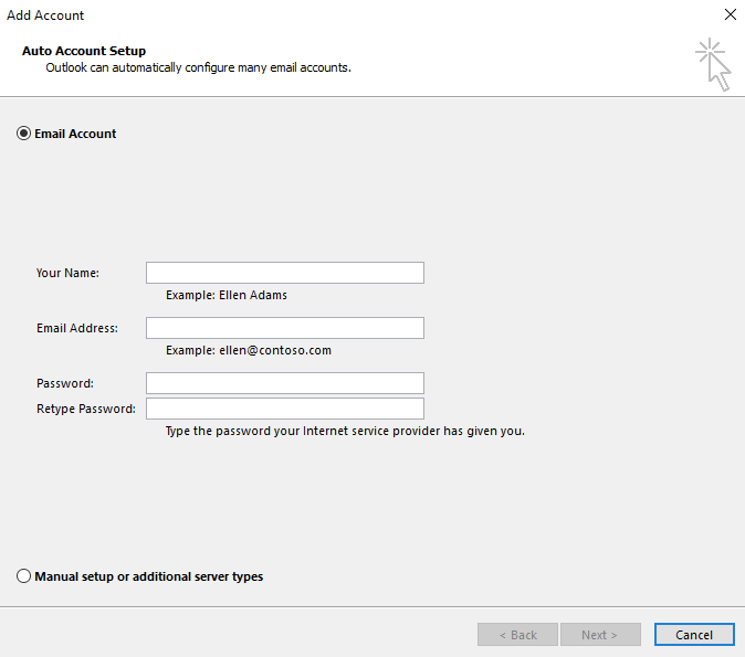 How to set up a POP/IMAP email account in Microsoft Outlook
